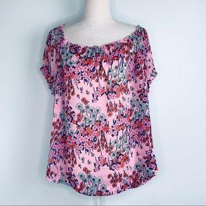 NWT ModCloth Pink Sheer Floral Print Sz 2X
